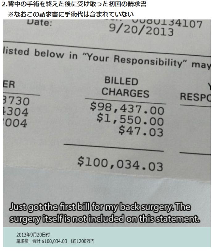 アメリカの高額請求書1