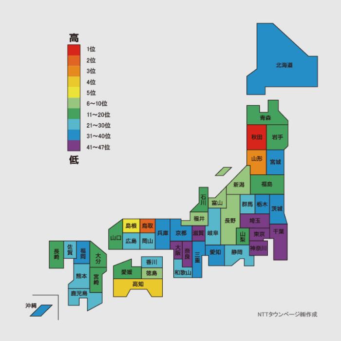 美容院の登録件数が最も多い都道府県、実は地方?