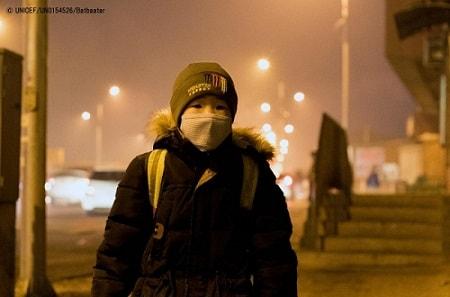 モンゴル  大気汚染で呼吸器系疾患急増  5歳未満児の死亡原因第2位