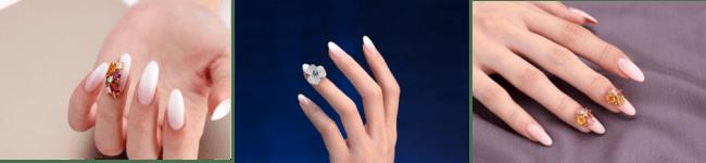 宝石を使ったネイルサービス