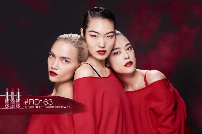 アジア人女性のために開発された赤リップ